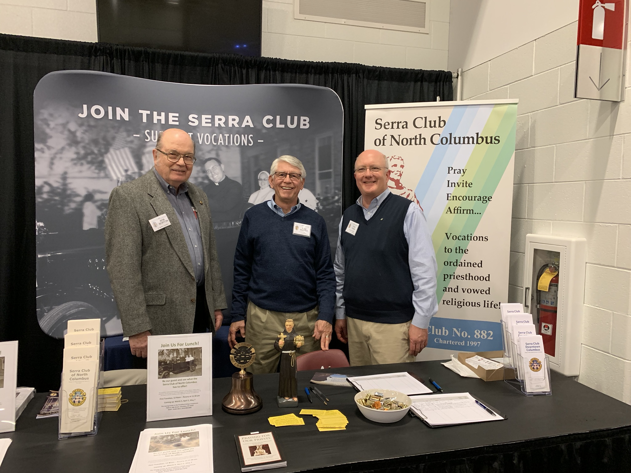 Serra Clubs at the Columbus Catholic Men's Conference, Saturday, February 23, 2019